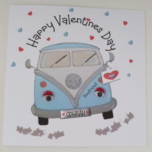 Personalised Valentines Card VW Camper Boyfriend Husband Wife Girlfriend Wife Any Colour Camper (SKU825)