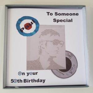 Personalised 50th Birthday Card Friend Dad Paul Weller The Jam MODS Any Relation Or Age (SKU398)