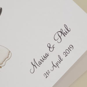 Personalised Funny Wedding Day Card Bride And Groom Design Any Couple Any Colour
