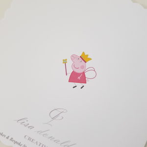 Personalised 8×8 Birthday Card Peppa Pig Granddaughter Any Relation Any Year