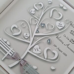 Personalised 25th Wedding Anniversary Card Husband Or Wife Any Year Or Colour (SKU759)