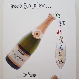 Personalised Birthday Card Champagne Mum Gran Any Relation Any Occasion
