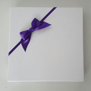 Personalised 8 x 8 Wedding Day Card Cadbury Purple & Yellow Sister & Brother In Law Any Relation Any Event Any Colour