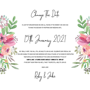 Change The Date Cards – Wedding Stationery – Invitation Designs For All Occasions
