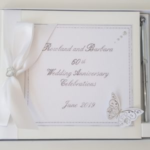 Personalised Guest Book 60th Wedding Anniversary Engagement Birthday Baby Shower Any Event Any Year