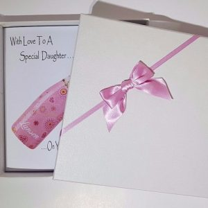 Pink Champagne Personalised Birthday Card / 18th 21st 30th 40th 50th 60th / Daughter Granddaughter Goddaughter Niece Sister Nan Mum Grandma