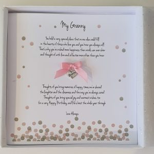 Personalised Birthday Card Granny Any Relation or Occasion (SKU2)