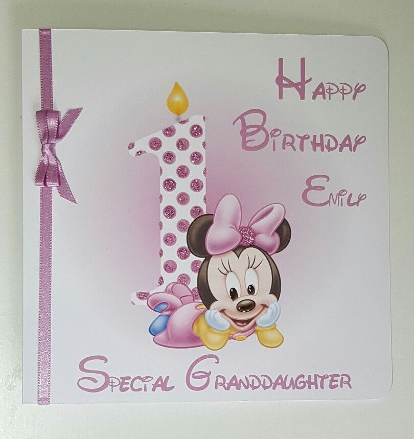 Personalised 1st Birthday Card Suitable For Granddaughter Daughter Niece Goddaughter Any Age