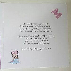 Personalised 1st Birthday Card Granddaughter Daughter Niece Any Relation Any Age