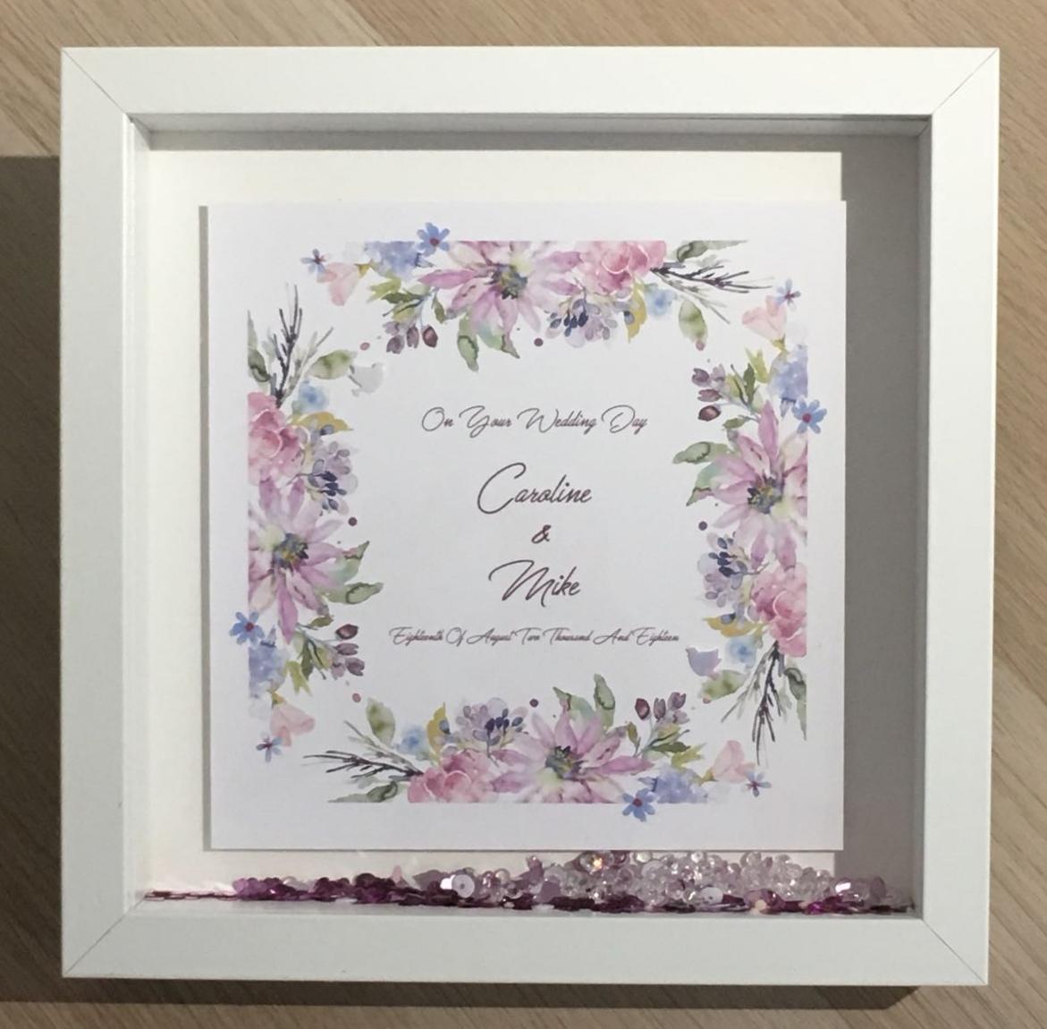 Personalised Wedding Day Keepsake Boxed Frame Card Gift Wallet ...