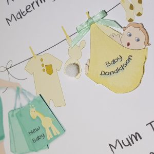 Personalised Maternity Leave Card Mum Gender Neutral Girl Boy Twins Triplets (SKU199)