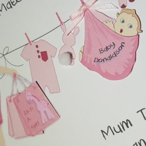 Large Personalised Maternity Leave Card For The Mum To Be Girl Boy Gender Neutral Twins Triplets