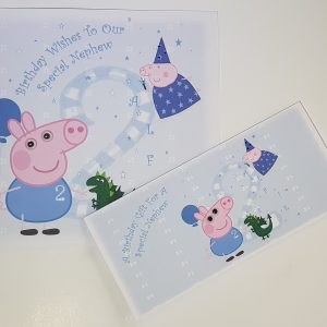 Large Personalised Birthday Card & Matching Gift Wallet With Gift Boxed Option / Peppa Pig / George Character / Nephew / Godson / Grandson / Son / Brother / 1st 2nd 3rd 4th