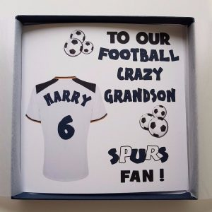 Personalised Birthday Card Football Rugby Theme Any Relation Any Age Any Team