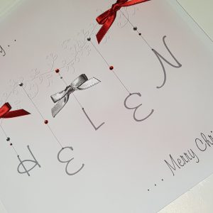 Pesonalised Christmas Card For Friends or Relations   Can Be Made In Any Colour Scheme    Boxed Option And Gift Wallet Option