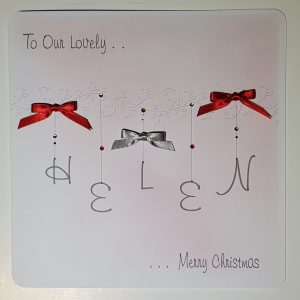 Personalised Christmas Card For Friends or Relations Any Colour