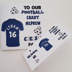 Personalised 7th Birthday Card Football Rugby Any Team Any Person Any Age Any Sport