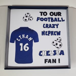 Football or Rugby Personalised 7th Birthday Card Chelsea   Any Team  Any Person  Any Age  Any Sport