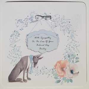 Personalised Bereavement Sympathy Card Loss Of Your Pet Dog Any Animal Any Breed