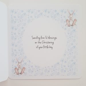 Personalised Christening Card Or New Baby Card   Baby Boy or Baby Girl  Twins  Triplets  Gift Boxed Option & Gift Wallet Option