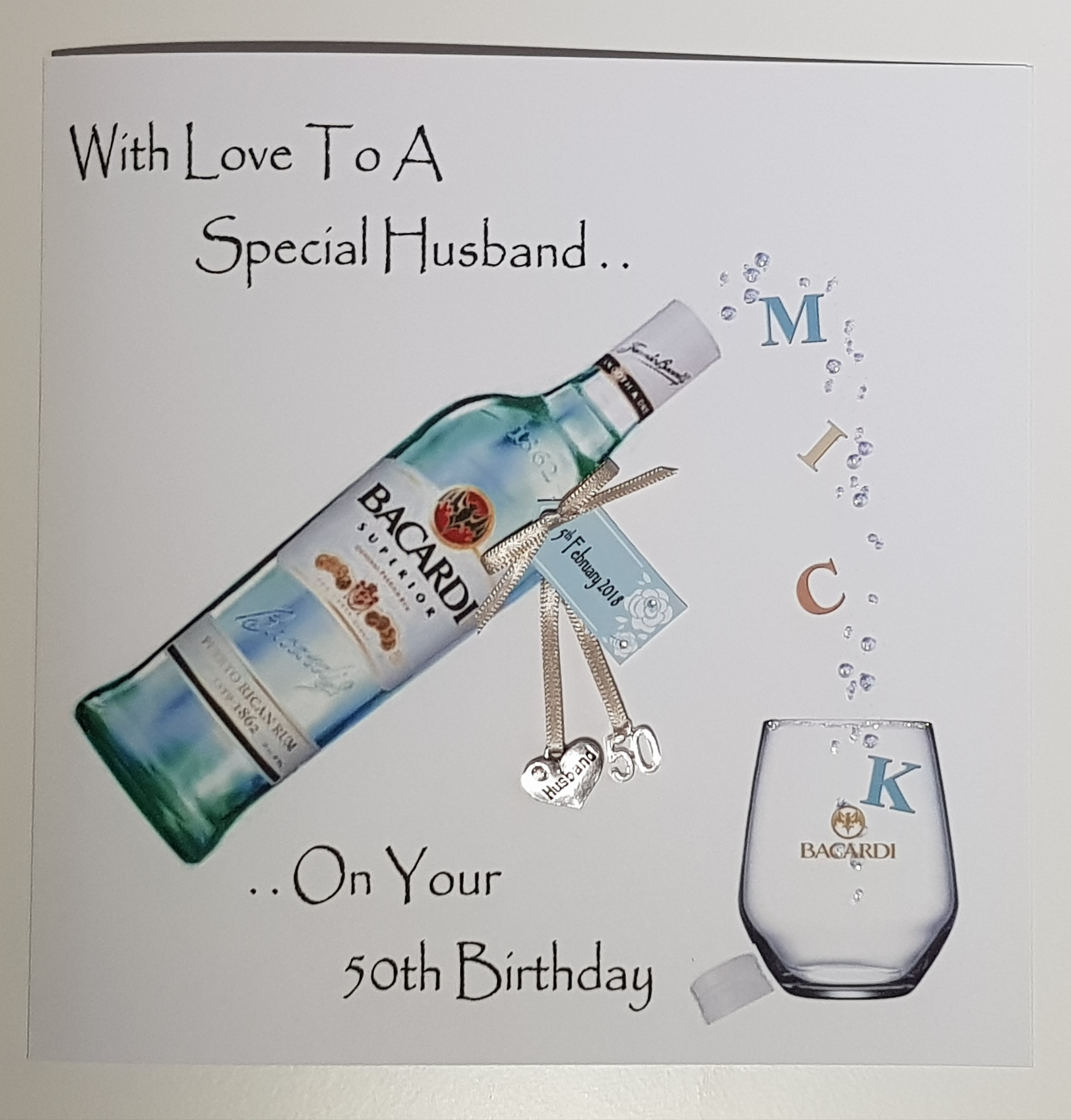 Personalised 50th Birthday Card Husband Any Relation Age Occasion