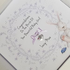 Personalised New Baby Or Christening Card Baby Boy or Baby Girl   Twins Triplets   Gift Boxed Option & Gift Wallet Option