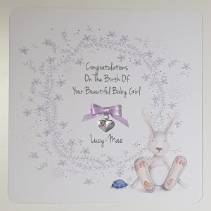 Personalised New Baby Or Christening Card Boy or Girl Twins Triplets Gift Boxed Option & Gift Wallet Option