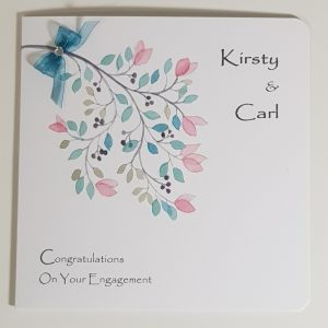 Personalised Congratulations On Your Engagement Card Any Occasion Or Colour Scheme (SKU196)