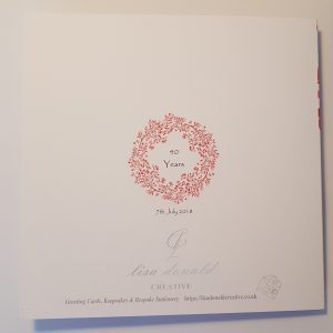 Personalised Ruby 40th Anniversary Card Husband Wife – Any Couple – Any Year