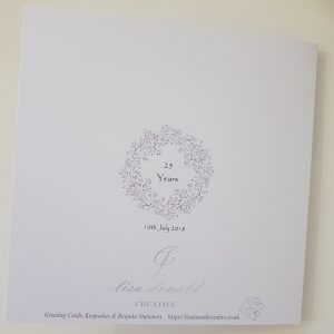 Personalised Silver 25th Anniversary Card Husband Wife Any Couple Any Year Any Colour