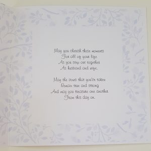 Personalised Wedding Day Card Niece & Husband Any Couple, Occasion Or Colour (SKU189)