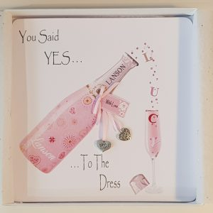 You Said YES TO THE DRESS Personalised Greetings Card For The Bride To Be