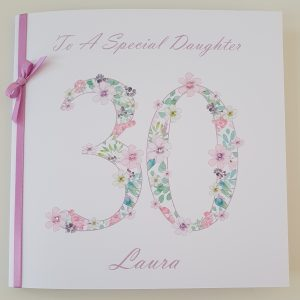 Personalised 30th Birthday Card Daughter…                                                Suitable For Anyone Of Any Age