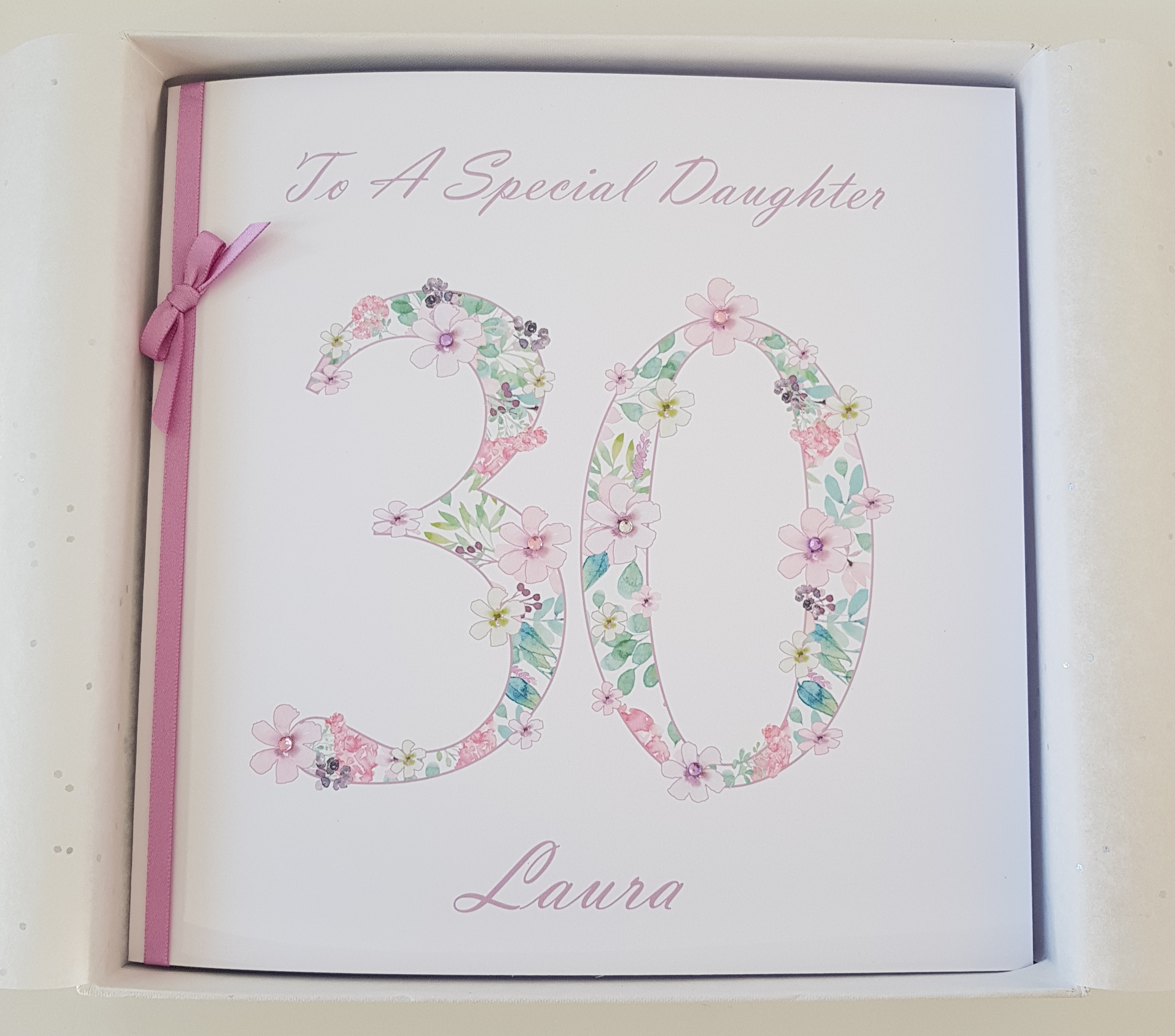 Personalised 30th Birthday Card Daughter Suitable For Anyone Of Any Age
