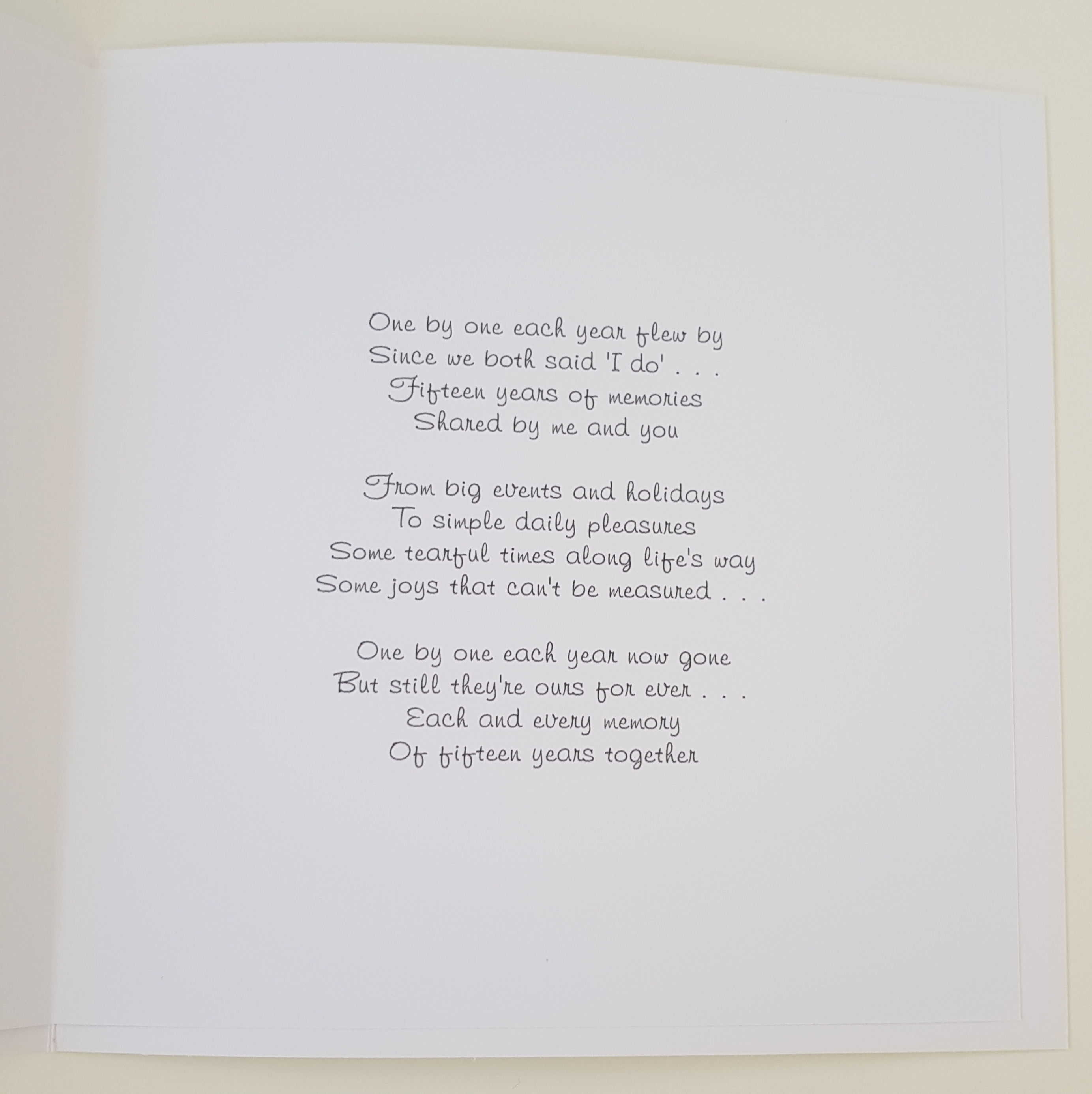 Crystal Gifts For 15th Wedding Anniversary: Personalised Crystal Wedding Anniversary Card Husband Wife