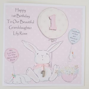 Personalised 1st Birthday Card Granddaughter  Any Age Any Relation Any Colour