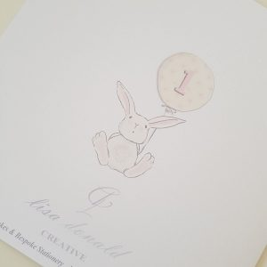 Personalised 1st Birthday Card Niece Any Age, Relation Or Colour (SKU160)