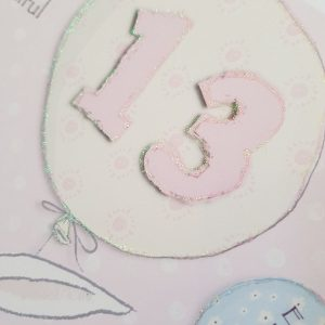 Personalised 13th Birthday Card Daughter  Any Age Any Relation Any Colour