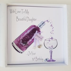 Personalised Violet Gin 30th Birthday Card Daughter Any Age Relation