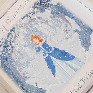Personalised Christmas Card Princess Castle Granddaughter / Daughter / Niece / Sister / Goddaughter