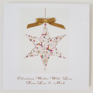 Personalised Christmas Bauble Themed Christmas Cards            Available As Individual or Multi Packs Any Wording Of Your Choice Inside