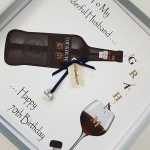 Personalised 70th Birthday Card Husband Special Reserve Port Suitable For Any Relation Any Age Any Tipple