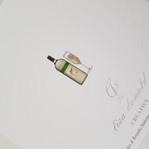 Personalised 8 x 8 Birthday Card 50th Wife White Wine Any Relation Any Age Any Colour