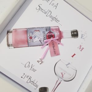 Personalised 21st Birthday Card Pink Unicorn Gin Bottle Special Daughter Any Age Any Relation