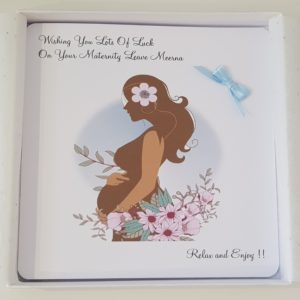 Personalised 8 x 8 Mum To Be Maternity Leave Card New Baby Twins Triplets Any Colour