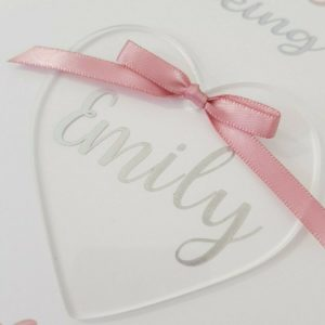 Personalised Thankyou Cards With Heart Keepsake Any Person Any Occasion Any Colour