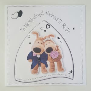 Large Personalised Husband Wife To be On Our Wedding Day Card Boofle Design Pink