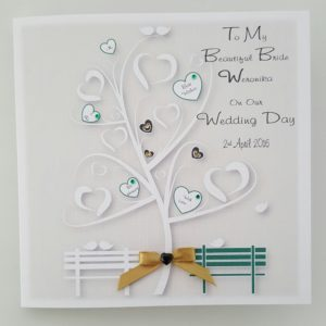 Personalised On Our Wedding Day Card Beautiful Bride Any Person, Occasion Or Colour (SKU150)