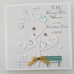Personalised On Our Wedding Day Card Beautiful Bride Any Relation Any Occasion Any Colour