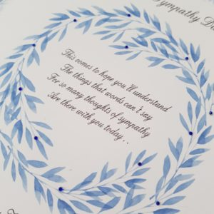 Personalised Bereavement Sympathy Card Loss Of Grandfather Any Relation Or Colour (SKU145)